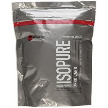 Isopure Zero Carb Protein Powder, Strawberries & Cream, 1 Pound