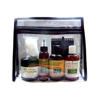 Olde Jamaica Jamaican Black Castor Oil Hair Growth & Maintenance Kit (Sulfate-free and Dye-free))