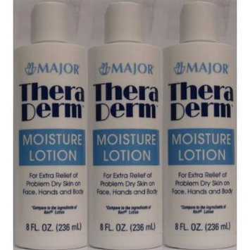 Thera Derm Lotion Generic for Keri Original Body & Face Moisturizing Lotion for Dry Skin 8 oz per Bottle Pack of 3 Total 24 oz