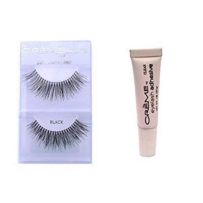6 Pairs Crème 100% Human Hair Natural False Eyelash Extensions Black #747L Long Full Natural Lashes