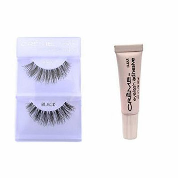 6 Pairs Crème 100% Human Hair Natural False Eyelash Extensions Black #415 Natural Long Lashes