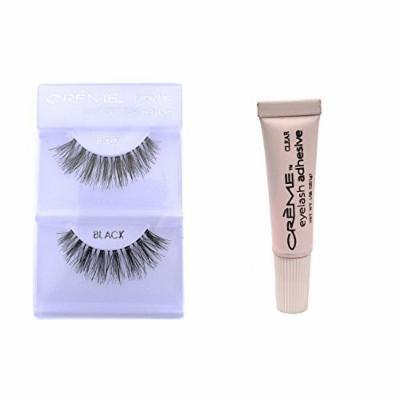 6 Pairs Crème 100% Human Hair Natural False Eyelash Extensions Black #415 Natural Long Lashes