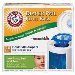 Munchkin Arm & Hammer Diaper Pail Bag Refills - 20pk