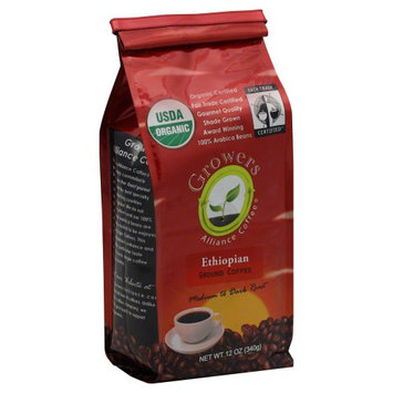 Growers Alliance Coffee Organic Ground Ethiopian 12 oz