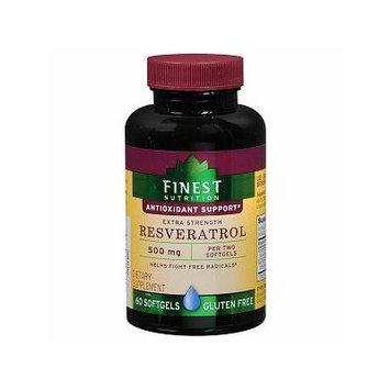 Finest Nutrition Resveratrol 500mg Softgels 60 ea