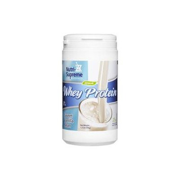 Nutri-Supreme Research Whey Protein Powder Sweet Vanilla Bean Dairy Cholov Yisroel - 1.2 LB
