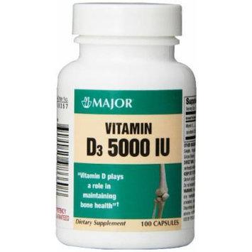 [2 BOTTLES] MAXIMUM STRENGTH VITAMIN D3 5000 IU 100CT X 2 BOTTLES =200 CAPSULES