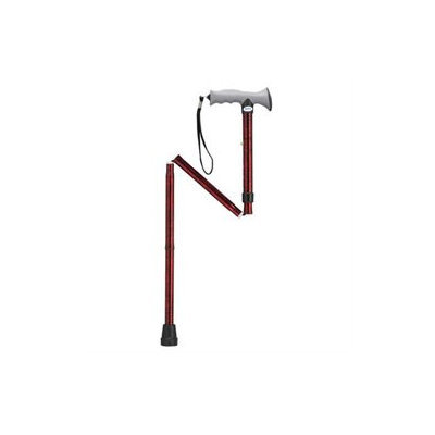 Drive Medical Lightweight Adjustable Folding Cane Gel Grip 10370RC