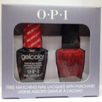 SPF27 Big Apple Red N25 Opi Gelcolor Uv Gel Polish with Free Matching Nail Lacquer 0.5floz