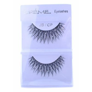Crème Dramatic False Eyelash Extensions with Rhinestones Black Long Lashes JBCP