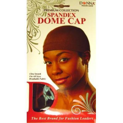 Donna Premium Collection Spandex Dome Cap #22216 Brown