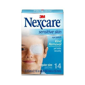Nexcare Sensitive Skin Eye Patch Regular Size, 14 Patches, 3.15