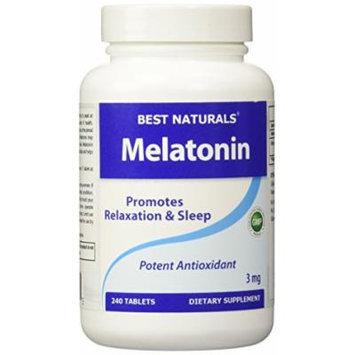 Best Naturals, Melatonin 3 mg, 240 Tablets