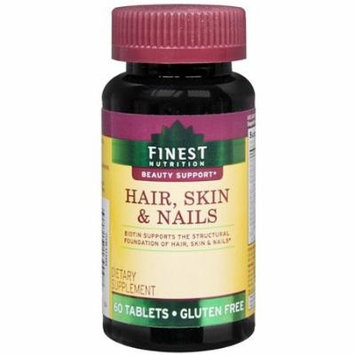 Finest Nutrition Hair Skin & Nails, Tablets 60 ea