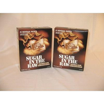 Sugar in the Raw Natural Cane Sugar 25 Individual Packets (2 Count)