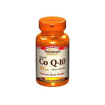 Sundown Naturals Q-Sorb CoQ10, 50mg, Softgels 100 ea