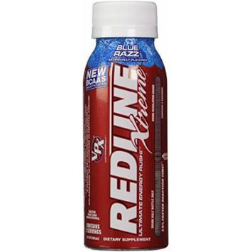 VPX Redline Xtreme Energy Ready to Drink, Blue Razz, 8OZ (Pack of 24)