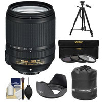 Nikon 18-140mm f/3.5-5.6G VR DX ED AF-S Nikkor-Zoom Lens with 3 UV/CPL/ND8 Filters + Hood + Lens Pouch + Tripod + Kit for D3100, D3200, D3300, D5100, D5200, D5300, D7000, D7100 DSLR Cameras