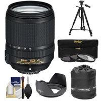 Nikon 18-140mm f/3.5-5.6G VR DX ED AF-S Nikkor-Zoom Lens with 3 UV/CPL/ND8 Filters + Hood + Lens Pouch + Tripod + Kit for D3100, D3200, D3300, D5100, D5200, D5300, D7000, D7100 DSLR Cameras