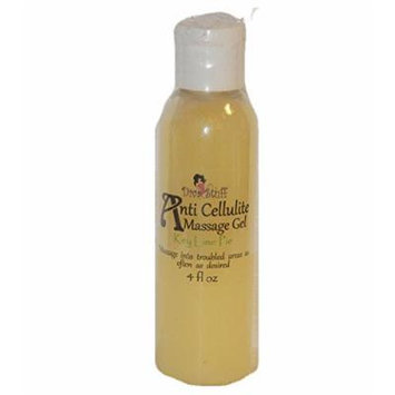 Anti Cellulite Massage Gel with Caffeine,Grapefruit & Juniper Berry, Key Lime Pie Scent, By Kym's Diva Stuff
