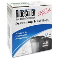 Heritage Bag Company Can Liners, Drawstring, 30 gal, 1.0mil, 40/PK, Black