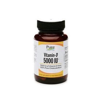 Pure Essence Labs Vitamin D 5000IU, Caplets 30 ea