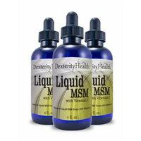 Liquid MSM Drops with Vitamin C, 4 Ounce Bottles, 3-Pack, Sterile MSM Eye Drops wtih Organic Ingredients, Dropper-Top Bottles