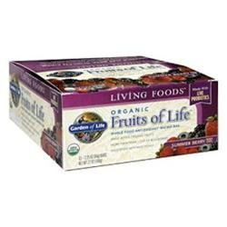Garden of Life Organic Fruits of Life Whole Food Antioxidant Matrix Bars Summer Berry - 12 Bars