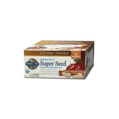 Garden of Life Organic Super Seed Whole Food Fiber Bars Apple Cinnamon - 12 Bars