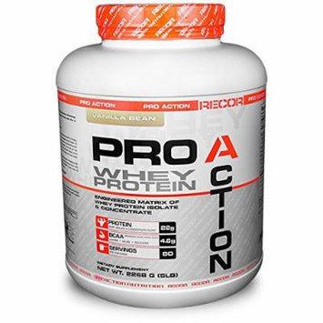 Reaction Nutrition Recor Pro Action Whey Protein, Vanilla Bean, 5 Pound