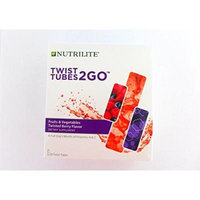Nutrilite Fruits and Vegetables To Go Twisted Berry Flavor Twist Tubes (20 Tubes)