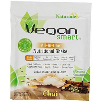 Naturade Vegansmart All-in-One Nutritional Shake, Chai, 12 Count