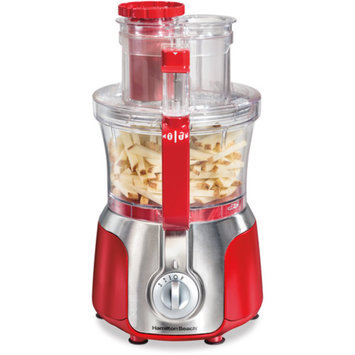 Hamilton Beach Big Mouth Deluxe 14-Cup Food Processor, Red