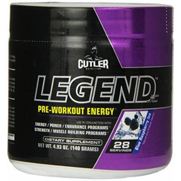 Cutler Nutrition Legend Pre-Workout Energy Formula, Blue Raspberry Ice, 4.93 Ounce