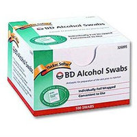 BD Alcohol Swabs - Foil Wrapped Wipes - BX 100