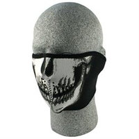 Zan Headgear WNFM002H Neoprene 1/2 Face Mask, Skull Face