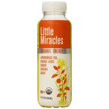 Little Miracles Organic Energy Drink, Lemongrass and Ginseng, 11.16 Ounce (Pack of 12)