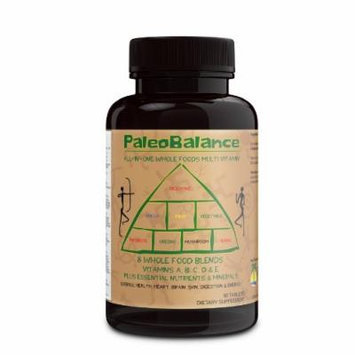 PaleoBalance All-In-One Whole Foods Multivitamin - Vitamin A, B, C, D & E Plus Essential Nutrients & Minerals Plus 8 Whole Foods Blends