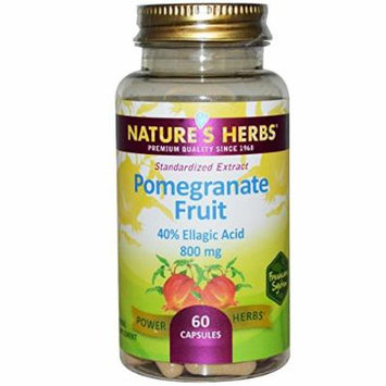Nature's Herbs Pomegranate Fruit -- 800 mg - 60 Capsules