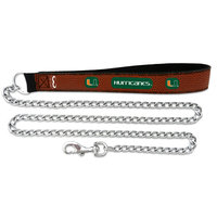 Game Wear Inc Gamewear Miami Hurricanes Football Leather Chain Leash Large