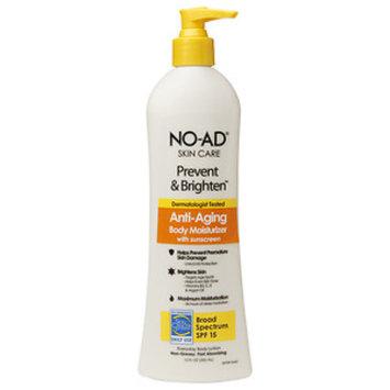 No-ad NO-AD Prevent & Brighten Anti-Aging Body Moisturizer SPF 15, Lotion, 12 fl oz
