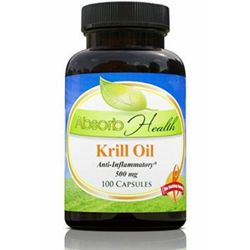 Virgin Krill Oil , 500mg 100 Softgels , More Effective Than Omega 3 Fish Oil