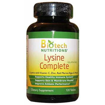 Biotech Nutritions Lysine Complete Dietary Supplement, 120 Count
