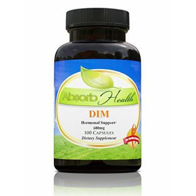 DIM Diindolylmethane , 100mg , 100 Capsules , Hormonal Estrogen Balance Supplement for Men and Women