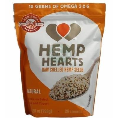 Organic Hemp Hearts Raw Shelled Hemp Seeds Non GMO 28 Oz
