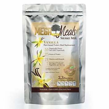 MegaOne Vanilla Meal Replacement Shake Mix - Natural Vegetarian - High Absorption Plant Based Protein Powder - Non-GMO - Gluten Free - For Diet / Weight Loss, Hunger Control, 55 Fermented Super Food Blend