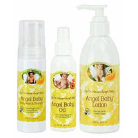 Earth Mama Angel Baby Shampoo and Body Wash with Baby Oil & Lotion