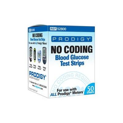 Prodigy No Coding Blood Glucose Test Strips Box of 50