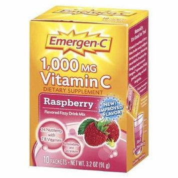 Emergen-C 1000 mg Vitamin C Travel Box, Raspberry 10 packets