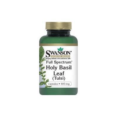 Swanson Premium Brand Full Spectrum Holy Basil Leaf (Tulsi) 400mg -- 2 Bottles each of 120 Capsules